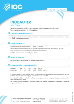 FT INOBACTER (ES) - Institut Oenologique de Champagne
