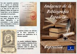 folleto exposición imagenes bibliografçia