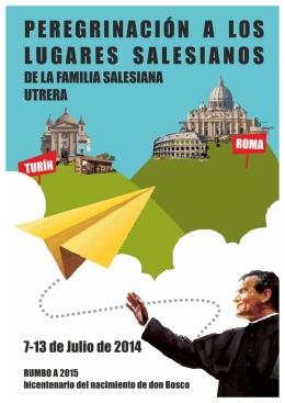 Folleto peregrinación Familia Salesiana