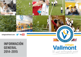INFORMACIÓN GENERAL 2014-2015