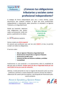 ¿Conoces tus obligaciones tributarias y sociales como profesional