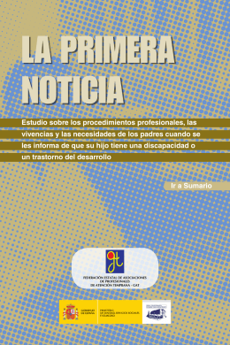 Folleto Primera Noticia 2013 - SiiS Centro de documentación y