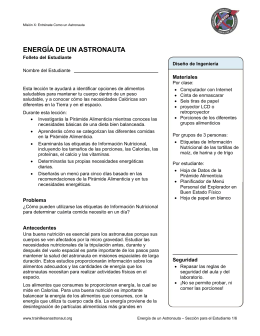 Seccion Para El Estudiante - Mission X Train Like An Astronaut