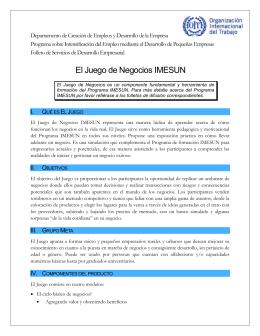 Folleto del Juego de Negocios IMESUN  pdf