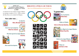 folleto olimpiadas