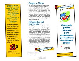 Juegos y Obras ¡Estudiantes del cuarto año!