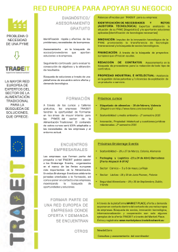 Folleto proyectoTRADEIT