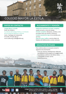 Folleto informativo - Colegio Mayor La Estila