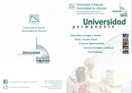 La Universidad Permanente de la Universidad de Alicante es un