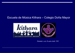Folleto Kíthara Doña Mayor