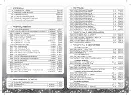 2013 Lista Precios y Accesorios - Frente P08