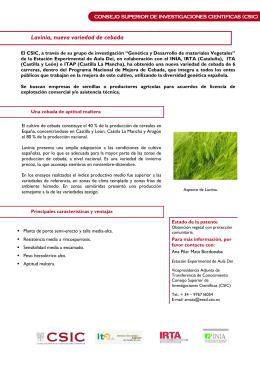 Folleto Oferta Tecnologica (Español)