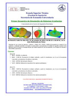 Folleto Primer Encuentro de Simulación de Sistemas irradiantes EST