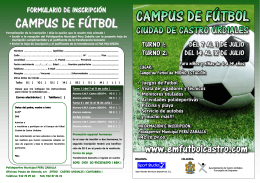 Folleto Campus Futbol 2014