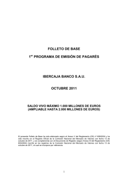 FOLLETO de BASE Pagarés Ibercaja Banco FINAL