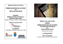 folleto encuentro dueñas - Cultura de Castilla y León