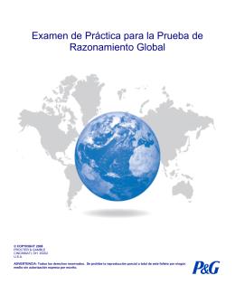 Examen de Práctica para la Prueba de Razonamiento Global