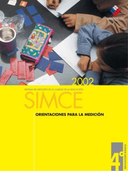 Folleto de Orientaciones Simce 2002 / 4.° básico
