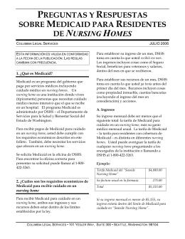 preguntas y respuestas sobre medicaid para residentes de nursing
