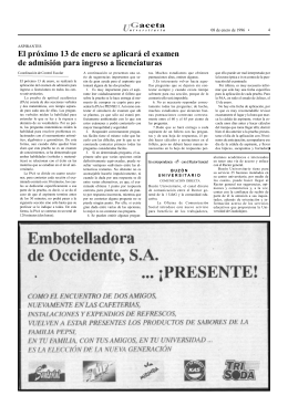 pagina 4 - La gaceta de la Universidad de Guadalajara