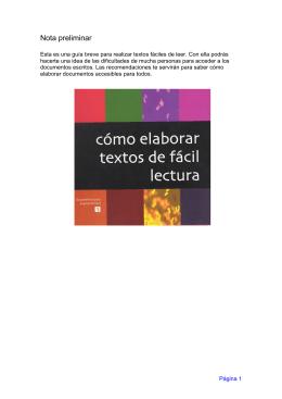 Cómo elaborar textos de fácil lectura