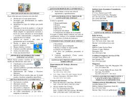 Folleto 2013 empleo - Página Oficial Municipio Autónomo de Cabo
