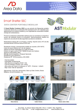 Folleto Smart Shelter SSC (SP)