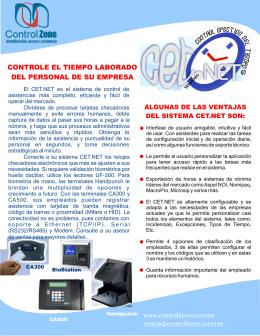 Folleto CET.NET.cdr - Control Zone