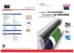 Folleto - Xerox 7142 Impresora de gran formato