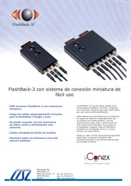 FlashBack-3 con sistema de conexión miniatura de fácil uso