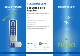 Folleto informativo Bluecam