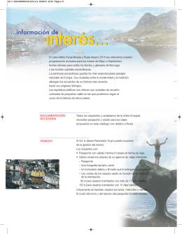DOCUMENTACIÓN NECESARIA VISADOS En este folleto