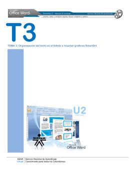 TEMA 3: Organización del texto en el folleto e Insertar gráficos
