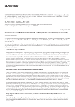 BLACKROCK GLOBAL FUNDS