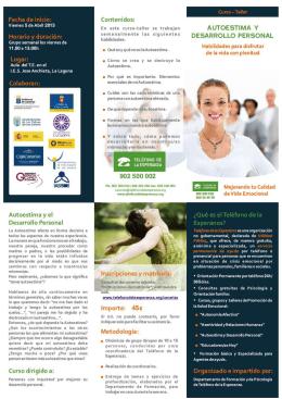 Folleto + instruc. matricula + ficha Autoestima TFE ABRIL 2013