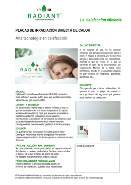 Folleto placas de interior IR Radiant