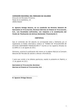 SUPLEMENTO AL FOLLETO DE BASE DE PAGARÉS DE CAJA DE