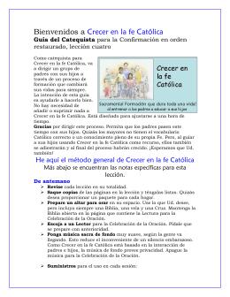 Lesson catechist ROC 4 - español