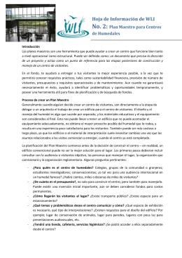 WLI Folleto Informativo 2 – Plan Maestro