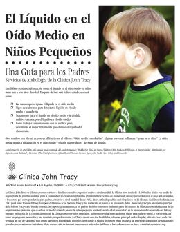 El Líquido en el Oído Medio en Niños Pequeños