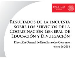 Indicador de la Coordinación General de Educación y
