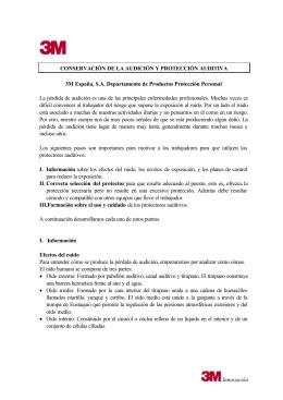 Programa de Conservación de la Audición. Descargar documento