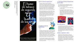 El humo de tabaco de tabaco de tabaco de tabaco de segunda de