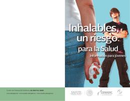Inhalables, un riesgo para la salud FRENTE