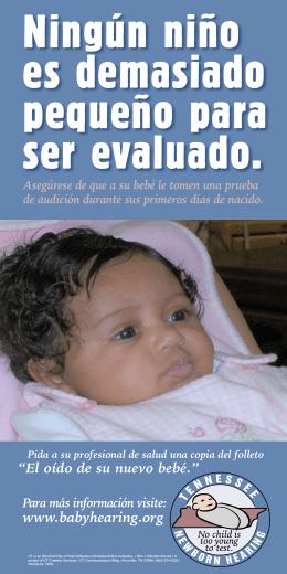 """www.babyhearing.org """"El oído de su nuevo bebé."""""""