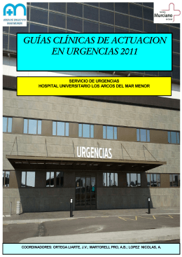 Manual guias clinicas de actuacion urgencias