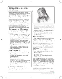 Infecciones de oído