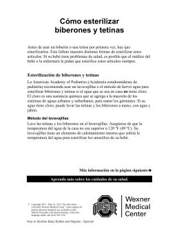 Cómo esterilizar biberones y tetinas