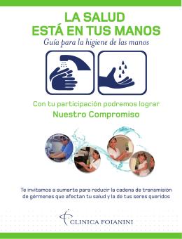 biptico Higiene de manos