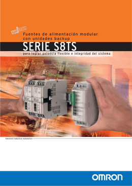 S8TS Folleto - Omron Europe